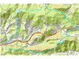 Rokovnjaška planinska potZemljevid prehojene poti