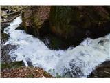 Slovenski slapovi vodotokov Igra vode je v tej soteski res navdušujoča.