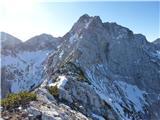 Krnička gora iz Matkove KrniceGreben Mrzle gore je kar zasnežen.