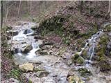 Polhograjska GrmadaDolinica pred Rovtarjem je tak čas okovana v led, sedaj pa potok žubori