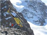 Engadiner Alps - ( Berninapass , St.Moritz , Diavolezza  -  Munt Pers 3207m ) Akrobacije Swiss mountain rescue team-a
