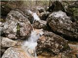Belopeška jezera - Rifugio Zacchi ob poti...