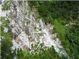 Krnička gora iz Matkove KrniceZopet prečenje grap pod Kopo