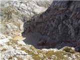 Bovški Gamsovecpogled na prepadne stene