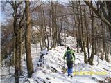 Boč - Donačka goraproti vrhu Donačke