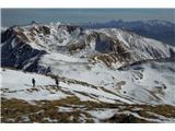 Monte Paularo in Monte Dimonpovratek, na obzorju nam ljube domače gore od Škrlatice do Kanina