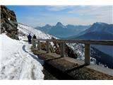 Monte Paularo in Monte Dimonv dolino po zasuti cesti