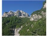 Krnička gora iz Matkove KrniceSmo že bližje ( fotografiral sin )