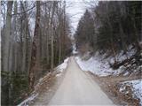 Drameljska planinska pot...Strmina v Grušce...