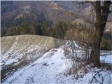 Drameljska planinska pot...spust proti Špitaliču...