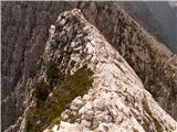 Prečenje Via de la Vita - Vevnica - Strug - PonceČez greben