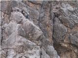 Prečenje Via de la Vita - Vevnica - Strug - PoncePlezalca v ferrati-pogled iz škrbine