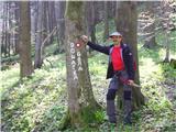 Boč - Donačka goraoznaka na križišču za Donačko Goro