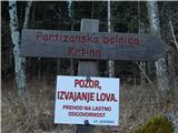 Smrečje - Partizanska bolnica Krtina