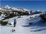 Kalški greben2019.04.20.67 pohodnica in gore od Grintovca do Brane