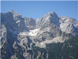 Goli vrh  1787 mnmGrintovec in Kočna, spodaj Češka koča