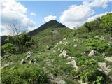 Južni VelebitPričetek grebenskega vzpona na Golič.Vrha ni na sliki.