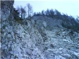 Kramarjeva smer v Storžiču,  IV/I-II M  615m